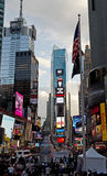 Times Square. Manhattan Times Square rush hour royalty free stock photos
