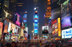 Times Square. In New York City is the most visited tourist attraction in the world with over 39 million visitors annually royalty free stock photos