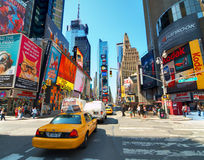 Times Square. In New York, NY.  is the world's most visited tourist attraction bringing over 39 million tourists annually royalty free stock image