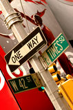 Times Square. On 42nd Street sign stock images