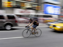 Times square. Bycicle in Times Square, New York, USA royalty free stock photos