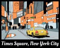 Times Square Stockbild
