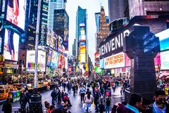 Times Square stock foto's