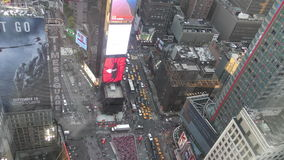 Times Square from above stock video footage