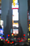Times Square Abstract. An abstract blur view of Times Square in New York City stock image
