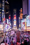 Times Square alla notte Fotografia Stock Libera da Diritti
