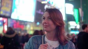 Times Square alla notte archivi video