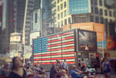 Times Square Amerikaanse Vlag Stock Foto