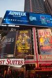 Times Square-Anzeigen Lizenzfreie Stockfotografie