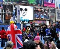 Times Square auf Des Sylvesterabends lizenzfreies stockbild