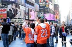 Times Square auf Des Sylvesterabends stockfotos