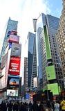 Times Square auf Des Sylvesterabends stockbilder