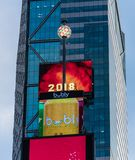 Times Square ball. New York City, United States - November 17 2018: The famous ball that drops to signify teh start of a new Year in Times Square stock photos