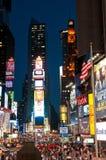 Times Square bij nacht Stock Afbeeldingen