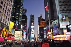 Times Square bij Nacht Royalty-vrije Stock Afbeelding