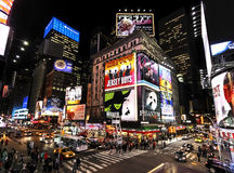 Times Square bij nacht Royalty-vrije Stock Foto's
