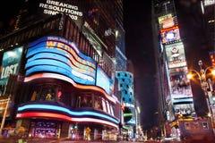 Times Square bij Nacht stock foto's