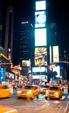 Times Square bij nacht New York, de V.S. Stock Fotografie