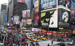 Times Square Billboards. A  shot of times square - 42 street Royalty Free Stock Photos