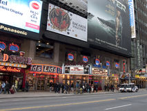 Times Square Billboards. A  shot of times square - 42 street Royalty Free Stock Image