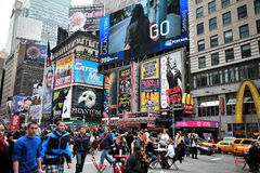 Times Square Billboards. A shot of times square - 42 street stock photo