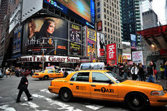 Times Square Billboards. A  shot of times square - 42 street Stock Image
