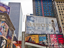 Times Square Billboards. Colorful billboards inTimes Square, New York Stock Image