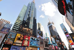 Times Square Billboards and Buildings Royalty Free Stock Images