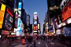 Times Square bis zum Night Stockbild
