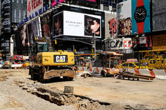 Times Square blokująca droga Zdjęcie Stock