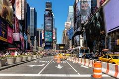 Times Square blokująca droga Obrazy Royalty Free