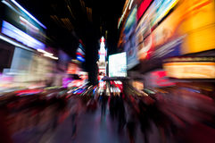 Times Square Blur Royalty Free Stock Images