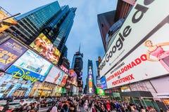 Times Square Broadway Manhattan punkt?w zwrotnych Miasto Nowy Jork usa zdjęcia stock