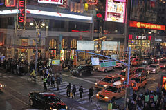 Times Square and Broadway at Night, New York City, NYC Stock Images