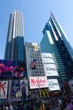 Times Square-, Broadway teatrar och lett tecken, ett symbol av New York royaltyfria foton