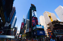 Times Square, Broadway theaters and led signs, a symbol of New Y Royalty Free Stock Photography