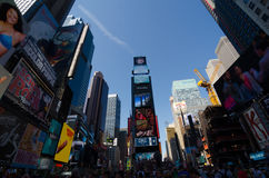 Times Square, Broadway theaters and led signs, a symbol of New Y Royalty Free Stock Images