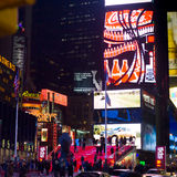 Times Square and Broadway Theaters at night Royalty Free Stock Photos