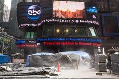 Times Square budowa Zdjęcia Royalty Free