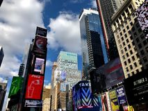 Times Square in New York City. Times Square Buildings and advertising signage on buildings in New York City royalty free stock images