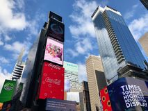 Times Square in New York City. Times Square Buildings and advertising signage on buildings in New York City royalty free stock photography