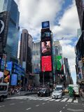 Times Square in New York City. Times Square Buildings and advertising signage on buildings in New York City stock photography