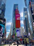 Times Square in New York City. Times Square Buildings and advertising signage on buildings in New York City stock photo
