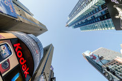 Times Square Buildings and Kodak Sign. Stock Photography