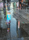 Times Square, caracterizado com teatros de Broadway e grande número de fotografia de stock