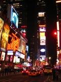 Times Square che affronta sud alla notte Fotografia Stock