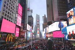 Times Square on Christmas Day in Manhattan. NEW YORK - DECEMBER 25, 2015: Times Square on Christmas Day in Manhattan royalty free stock photo