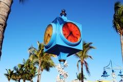 Times Square clock, Estero Island, Florida stock photography