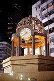 Times square clock in hong kong Royalty Free Stock Photos