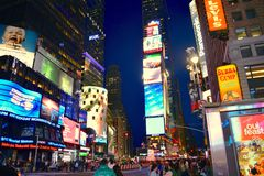 Times Square. Colorful Times Square, New York city, USA Stock Photo